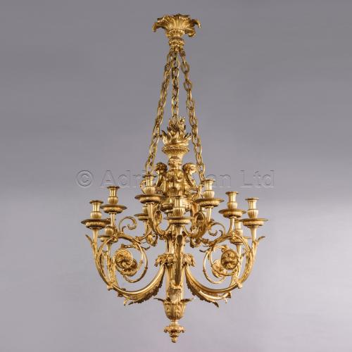 Chandelier After Gouthiere ©AdrianAlanLtd