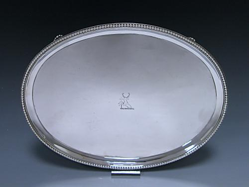 George III Sterling Silver Oval Salver Made 1778