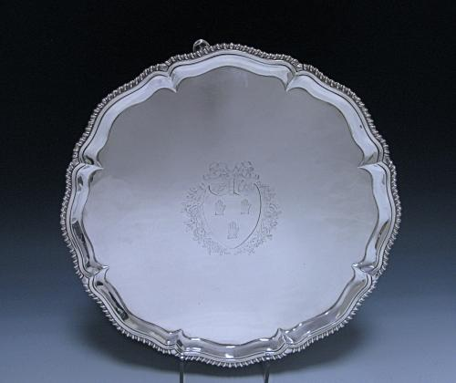 Antique Sterling Silver George III Salver