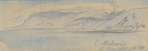 Cape Malawar, Greece, Edward Lear, R.A. (British, 1812-1888)