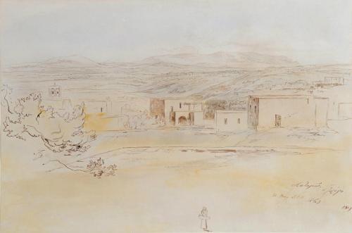 Potamos, Cerigo (present day Kythera), Edward Lear, R.A. (British, 1812-1888)