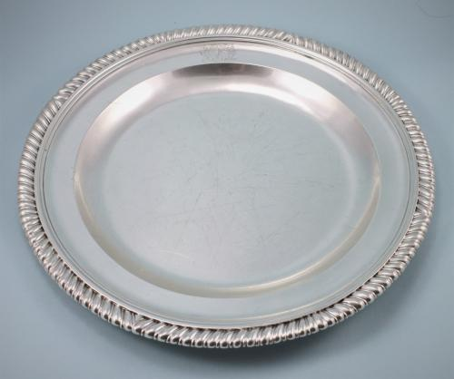 GEORGE II Silver Serving Dish . Circa 1729