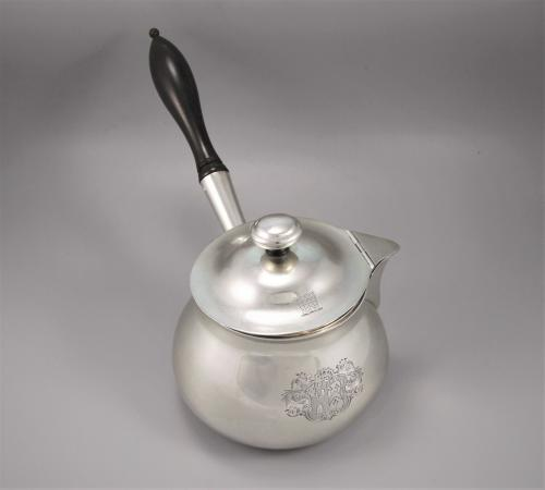 Early VICTORIAN Sterling Silver Lidded Saucepan. London 1839 by A B Savory & Sons