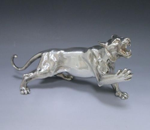 A Silver Model of a Tiger