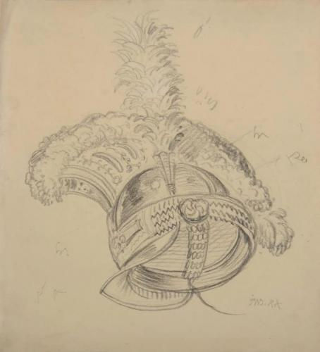 Study of a helmet, James Ward, R.A. (British, 1769-1859)