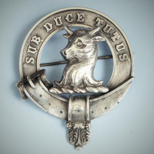 MYTTON of Shipton Antique Silver Clan Badge