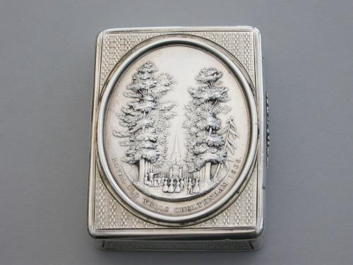 Victorian Silver Snuff Box 'Royal Old Wells Cheltenham'