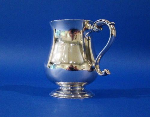 A Very Rare American Silver Half-Pint Mug