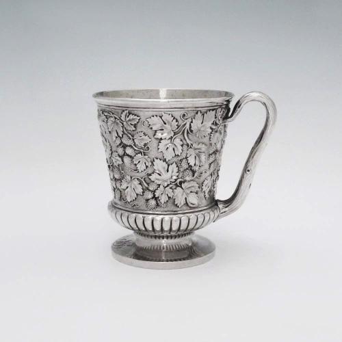 A George IV Antique English Silver Mug