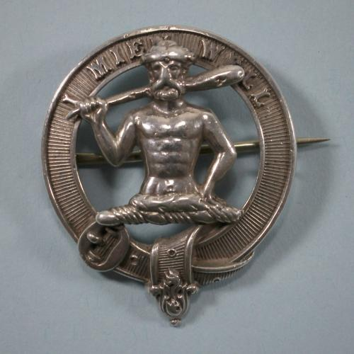 SHAW Scottish Antique Silver Clan Badge. Circa 1880