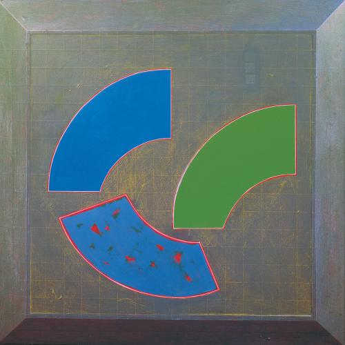 GORDON HOUSE (1932-2004) Three Arc Segments - Study for mural panel project