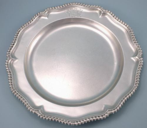 Important GEORGE II Sterling Silver Second Course Dish by George Methuen. London 1753