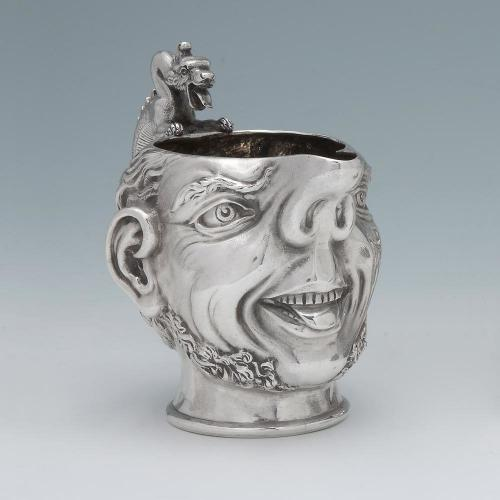 A Victorian Antique English Silver Sailor's Head Creamer