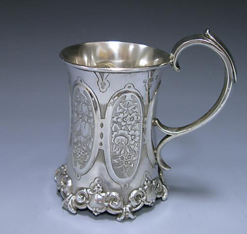 A Victorian Antique Sterling Silver Christening Mug