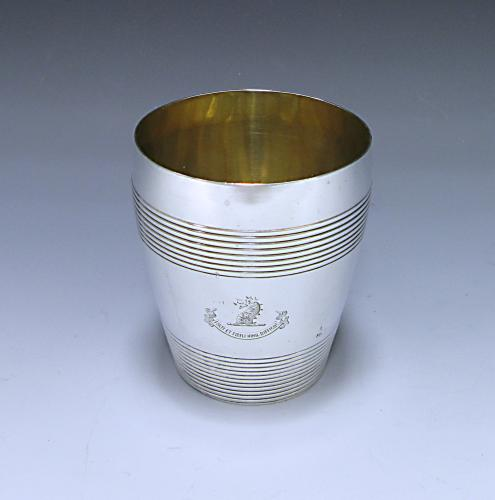 A George III Antique Sterling Silver Beaker