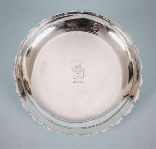 GEORGE I Sterling Silver Strawberry Dish by William Ged. Edinburgh 1721