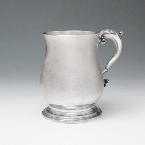 A Large George III Antique Irish Silver Mug