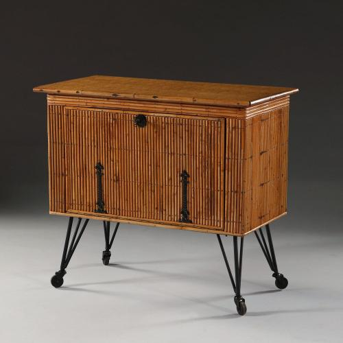 A Bamboo Cabinet Attributed to Audoux-Minet