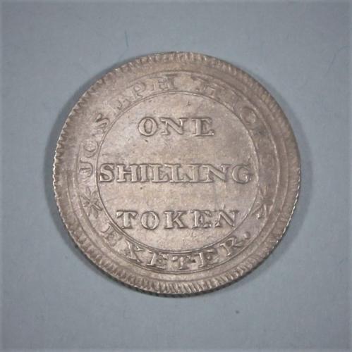 VERY RARE GEORGE III Exeter Shilling Token. Circa 1811