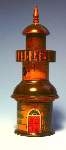 Tunbridge Ware Lighthouse Inkwell