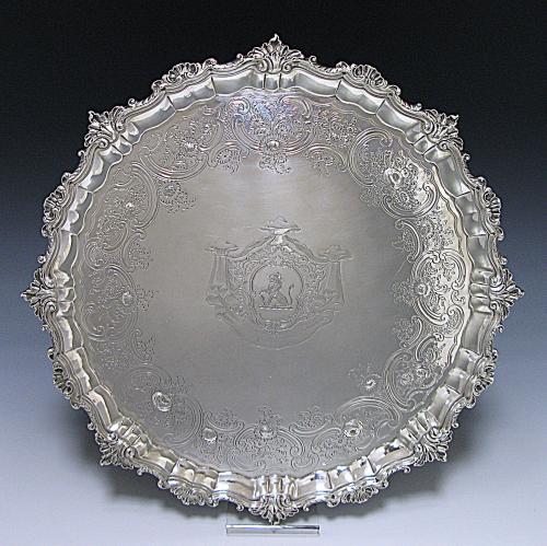 Antique Silver Salver
