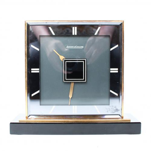 Jaeger Le Coultre double sided desk clock