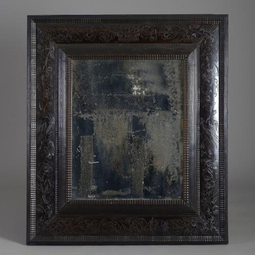Flemish Baroque Ebony Mirror