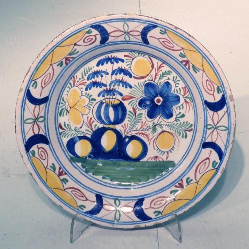Mid 18th Century Dutch Delft Plate