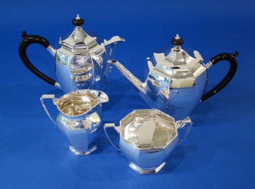 Art Deco Silver 4-Piece Tea & Coffee Set