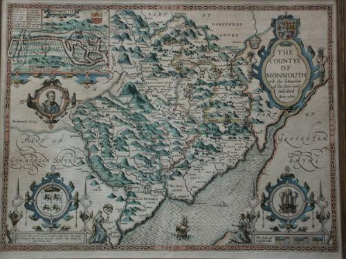 A map of 'The Countye of Monmouth', dated 1610