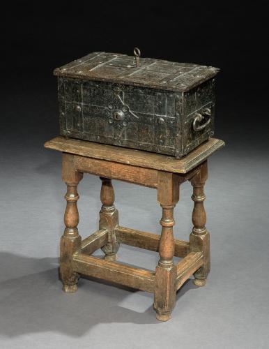 A mid-17th century oak joint stool