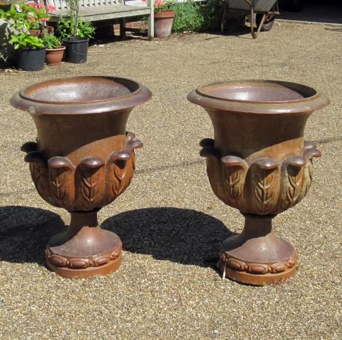 A Pair of Early 20th Century Stoneware Urns