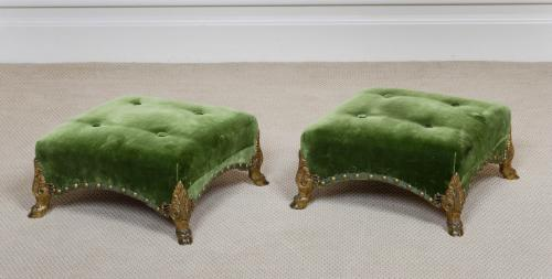 Antique Pure Regency Period Footstools , Benches
