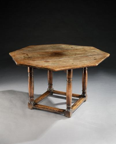 An early-17th century French walnut octagonal table