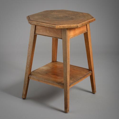 Walnut Two-Tier Lamp Table