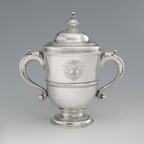 A George II Antique English Silver Cup & Cover