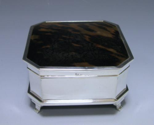 A Tortoiseshell and Silver Jewell Box