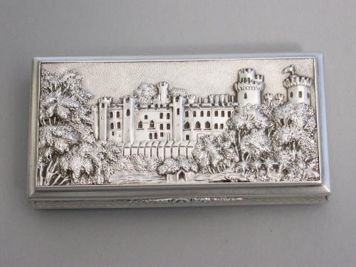Victorian Silver Castle-Top Snuff Box - Warwick Castle