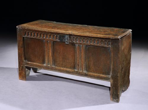 A mid-17th century joined oak chest from the collection of John Butler Yeats