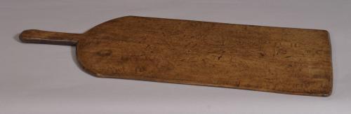 S/3564 Antique Treen 19th Century Beech Flat Cake Board