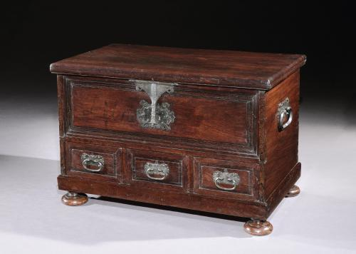 A late-17th century Portuguese chest with decorative metalware