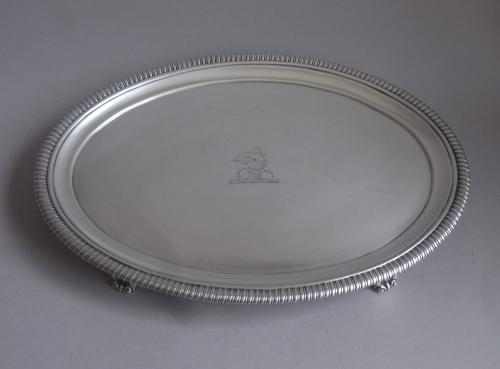 A very fine George III Salver made in London in 1803 by Crouch & Hannam