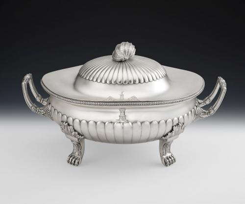 An important & very unusual George III Caserole Tureen made in London in 1803 by Daniel Pontifex