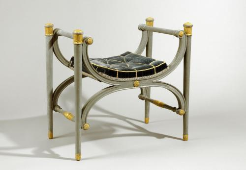 Antique Danish Gustavian Period Decorated Stool / Bench / Seat