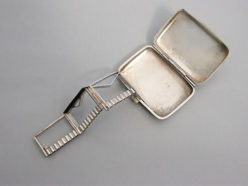 Edwardian Silver Vesta Case with unusual articulated mechanism
