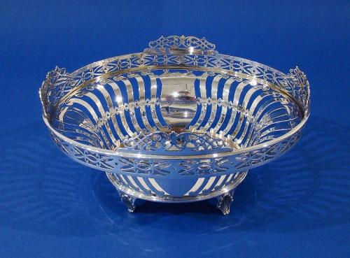 Silver Pierced Basket