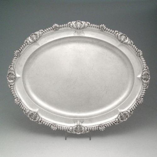 A Large George III Antique English Silver Platter
