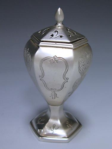 An Antique Victorian Silver Pepper Pot