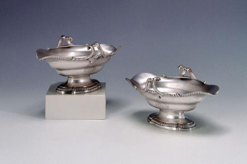 A Pair of George III Antique Sauce Boats