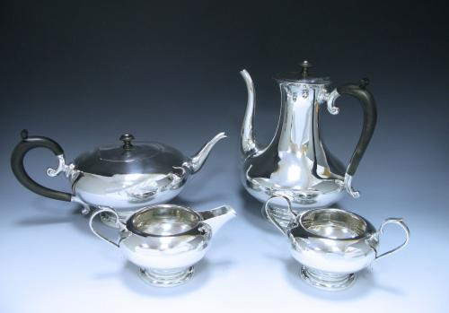 A Sterling George V Silver Four Piece Tea Service
